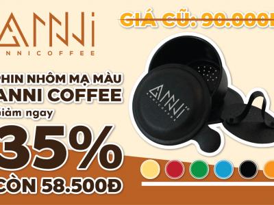 Giảm giá phin cafe nhôm mạ màu chỉ 58.500 vnđ