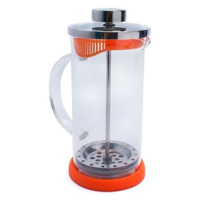 Bình ép cà phê hoặc trà màu cam