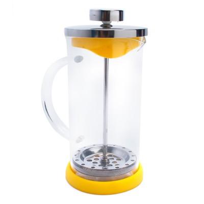 Bình ép cà phê hoặc trà màu vàng