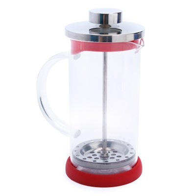 Bình ép cà phê hoặc trà màu đỏ