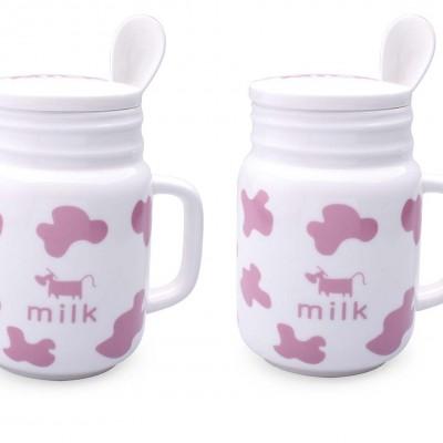 Bộ ly bò sữa (hồng)