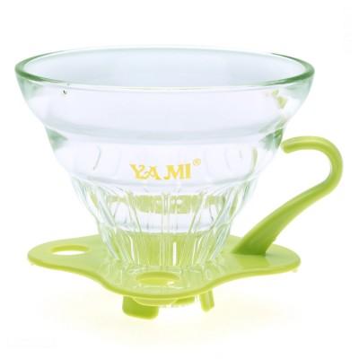 Phin  thủy tinh lọc cà phê xanh  Yami