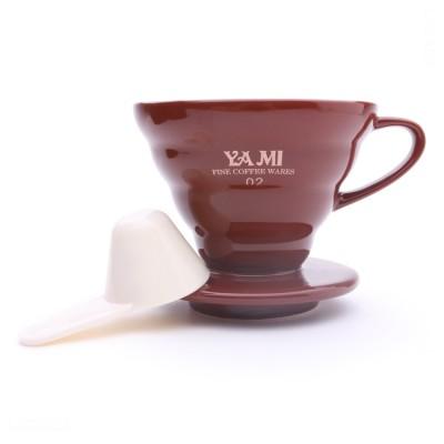 Phin sứ lọc cà phê nâu sọc V01