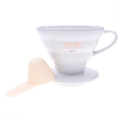 Ly sứ lọc cà phê -V02 (trắng, sọc)