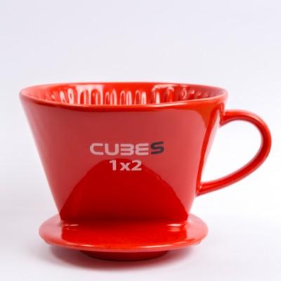 Phin sứ lọc cà phê đỏ Cubes 1X2