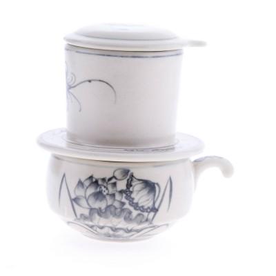 Phin cà phê sứ (Hoa sen)