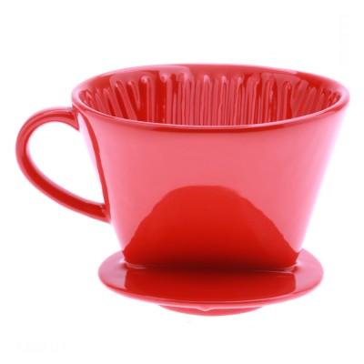 Phin sứ lọc cà phê VO2 Đỏ sọc