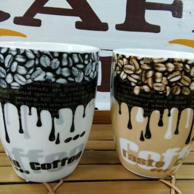 Bộ 2 ly sứ hình hạt cà phê