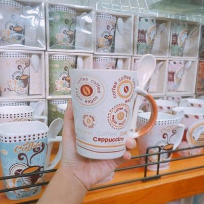Ly sứ coffee màu trắng