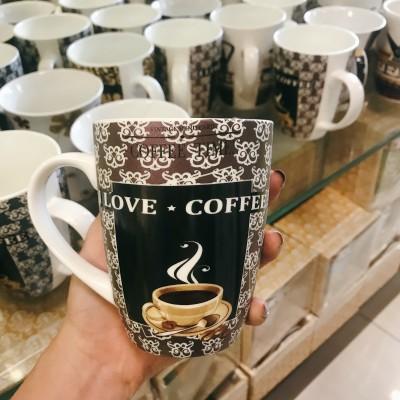 Ly sứ love coffee màu nâu