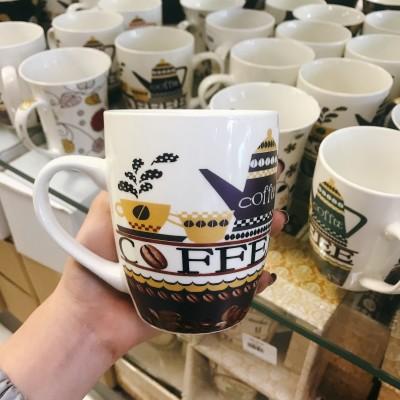 Ly sứ hình bình cà phê tím