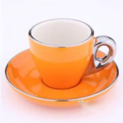 Ly sứ capuccino màu cam 80cc