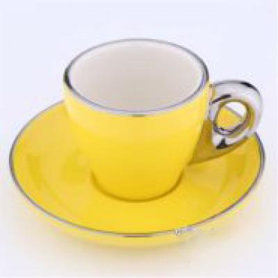 Ly sứ capuccino màu vàng 80cc