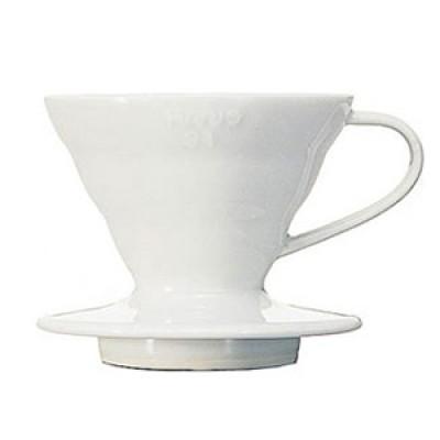 Phin sứ lọc cà phê Hario trắng
