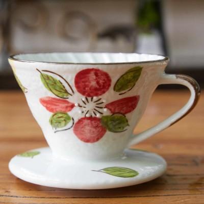 Phin sứ lọc cà phê hoa văn đỏ