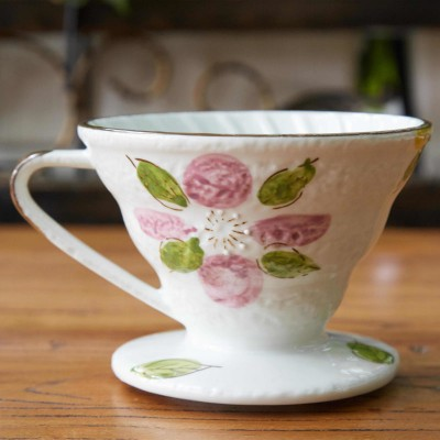 Phin sứ lọc cà phê hoa văn tím