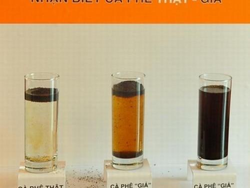 Phân biệt cà phê thật và cà phê hóa chất