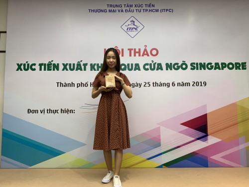 """Anni Coffee tham gia Hội thảo """"Xúc tiến xuất khẩu qua cửa ngõ Singapore"""""""