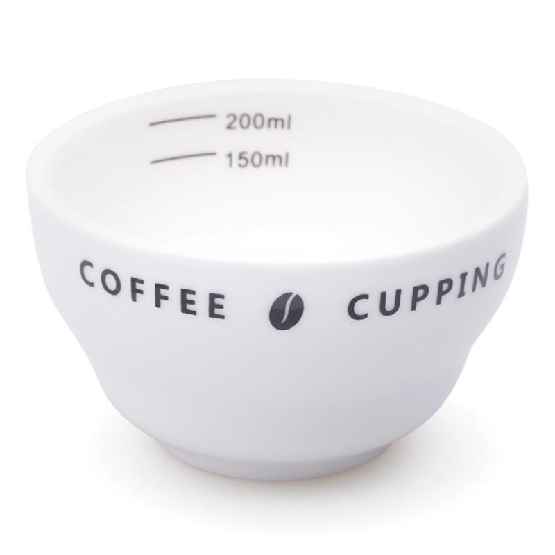 Bộ 6 ly sứ cupping (trắng)