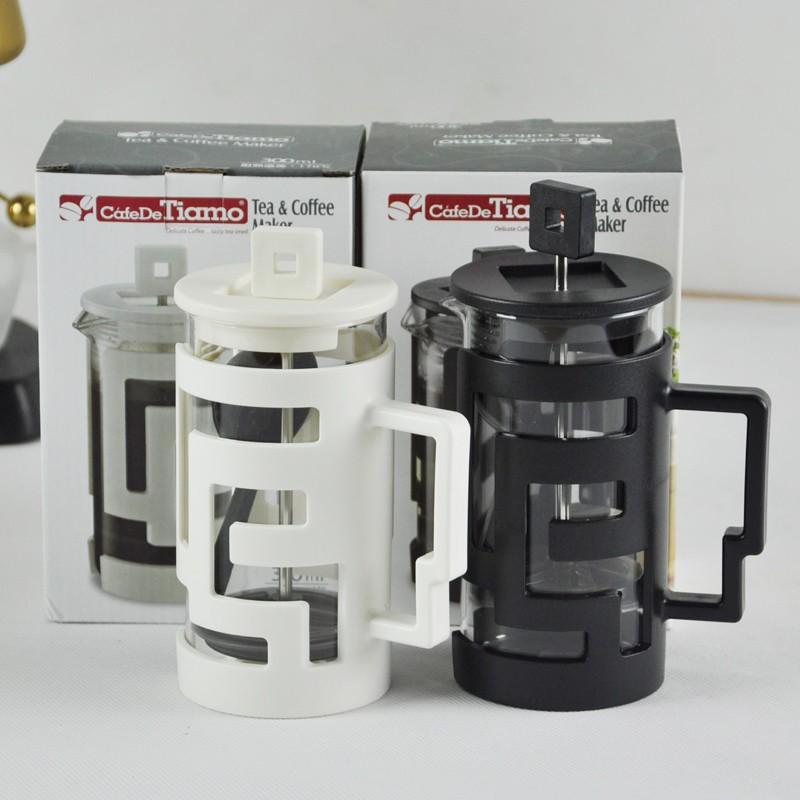 Bình ép cà phê và trà Cafe de Tiamo 300ml (trắng)