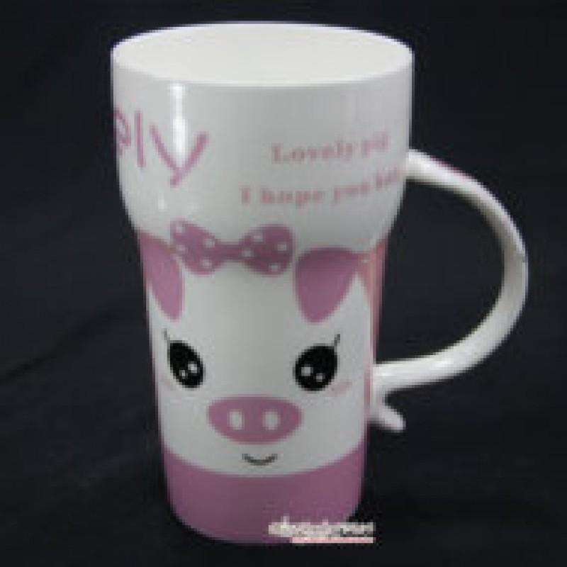 Ly Sứ Lovely Pig Màu Hồng