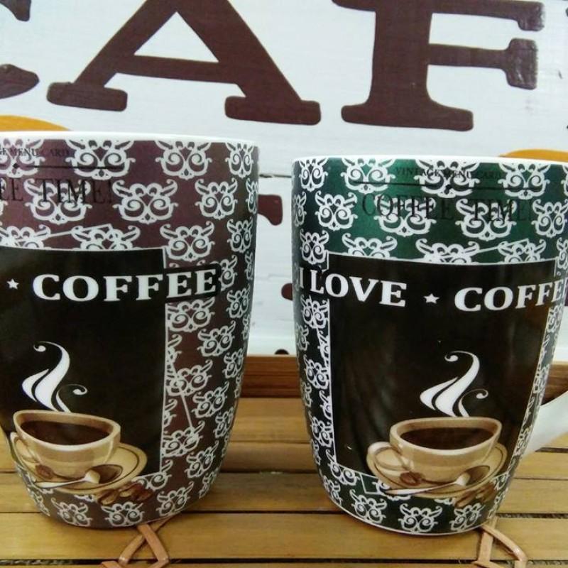 Bộ  2 Ly sứ love coffee