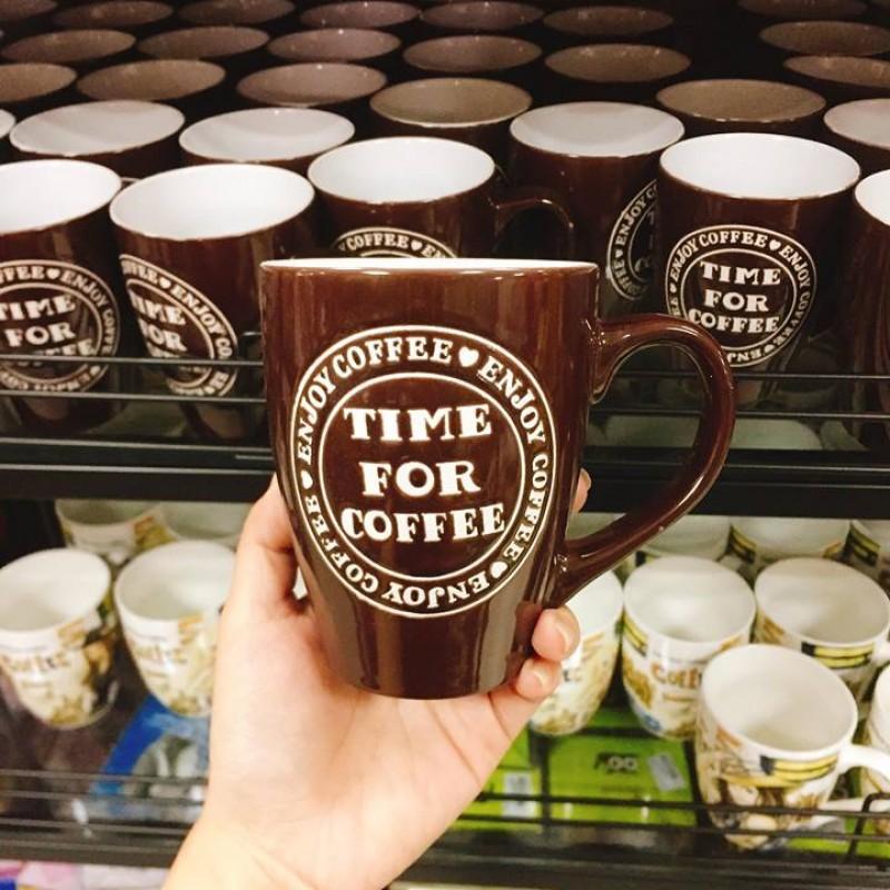 Ly sứ Time For Coffee nâu