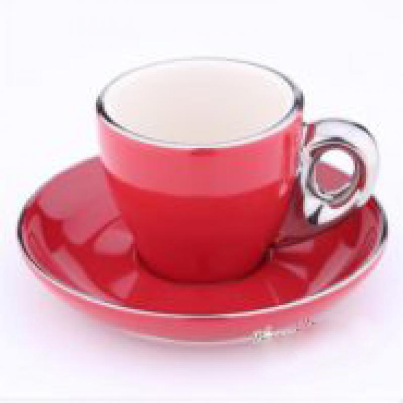 Ly sứ capuccino màu đỏ 80cc