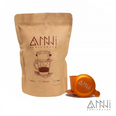 combo cà phê đá anni coffee và phin mệnh thổ