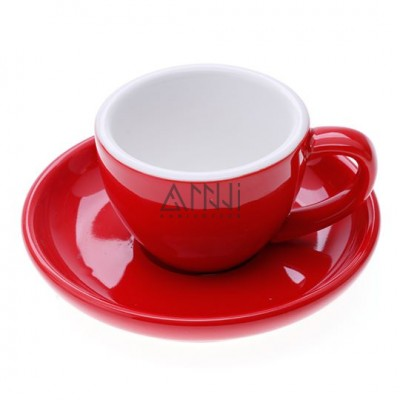 ly sứ espresso đỏ 75cc