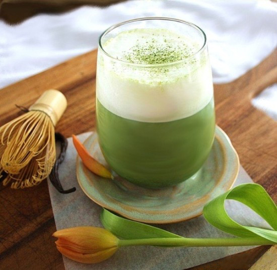 Matcha trà xanh foam sữa tươi