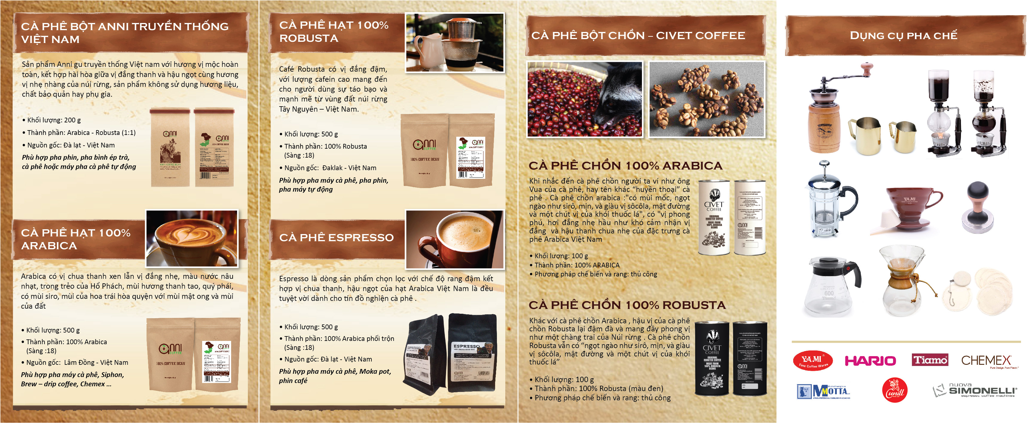 brochure anni coffee