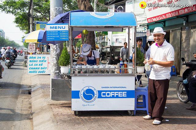 Xe đẩy cà phê của Vinacafe