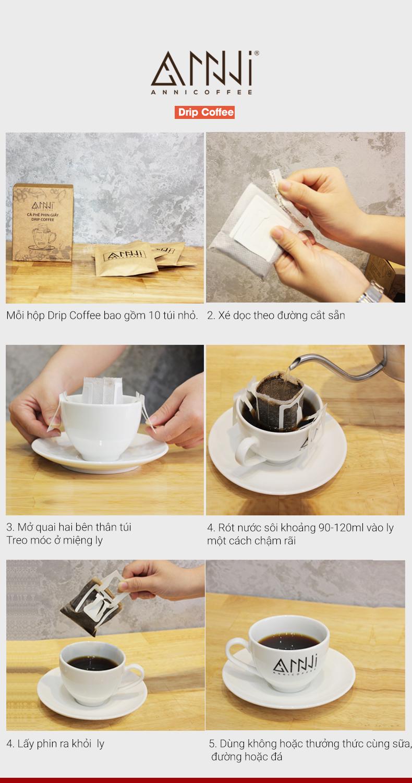 Cách sử dụng cà phê phin giấy