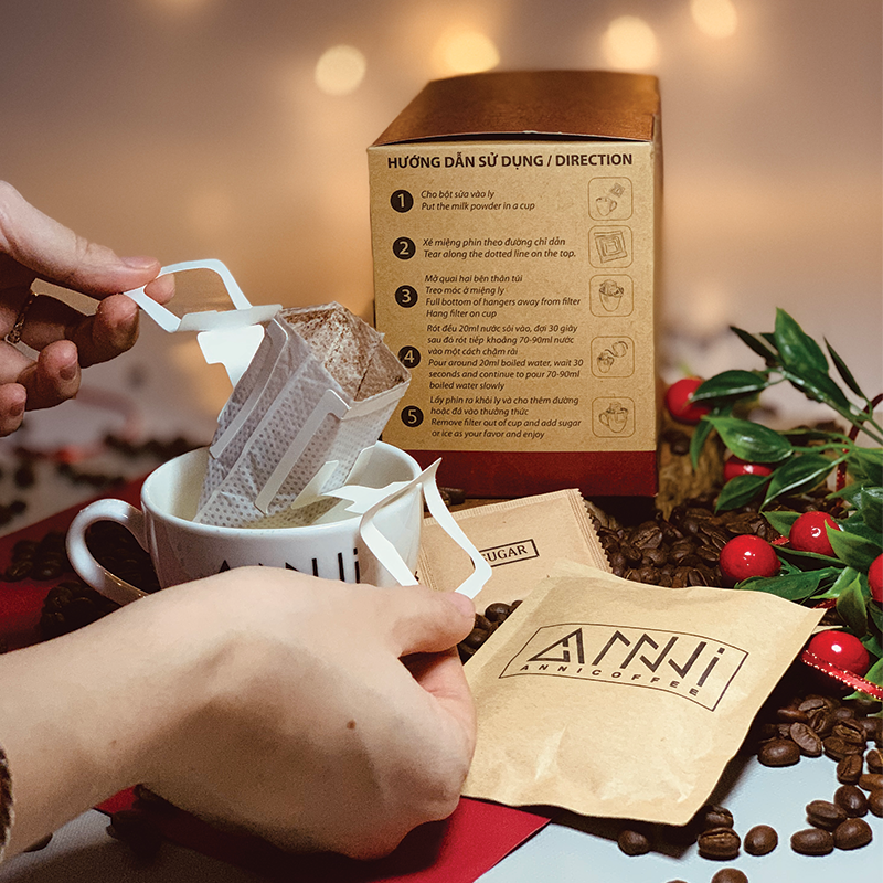 Cách pha Cà phê phin sữa anni coffee