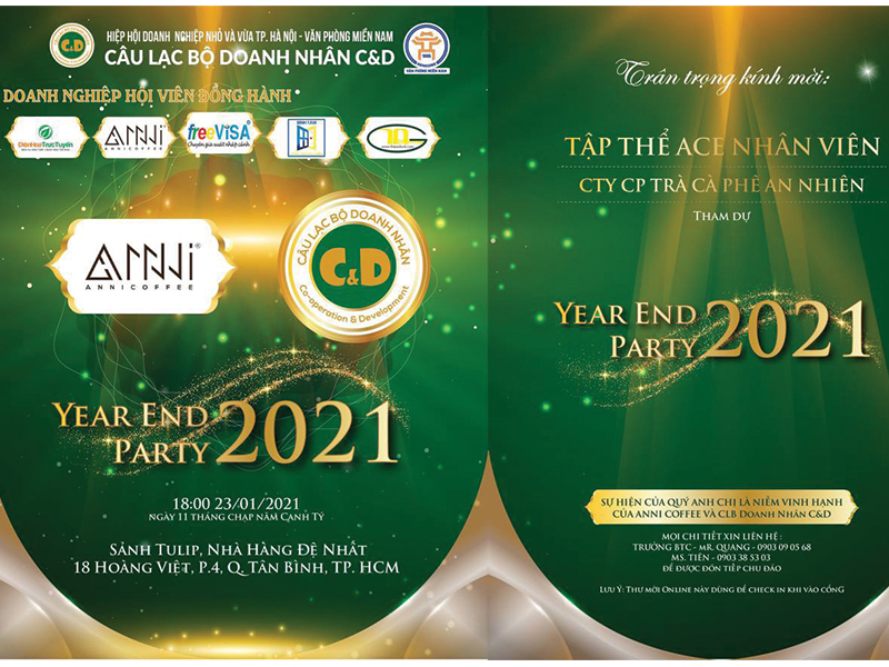 year end party 2021-công ty Anni Coffee