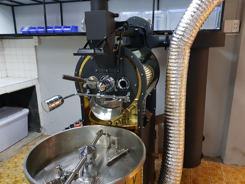 máy rang cà phê cao cấp mẻ 1kg