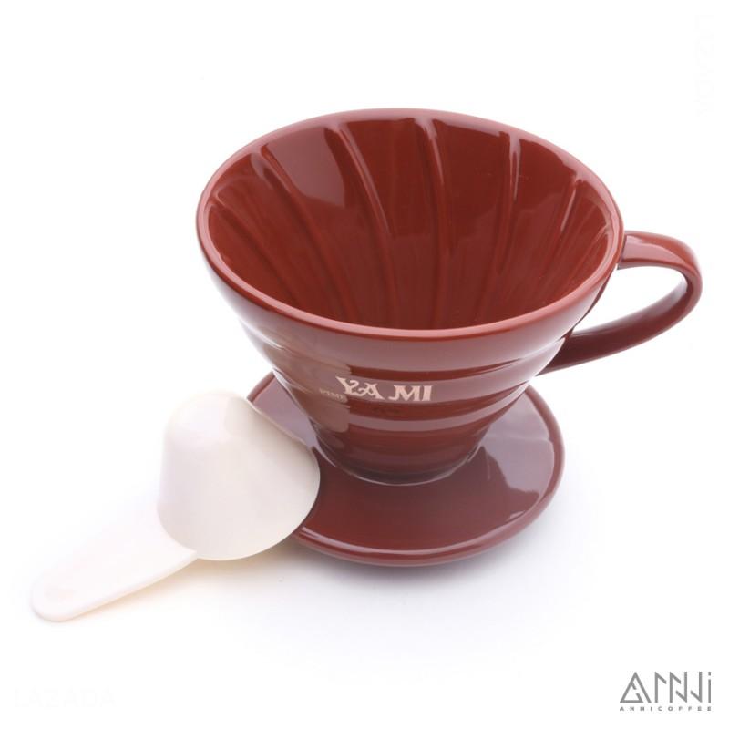 phin sứ lọc cà phê yami nâu sọc